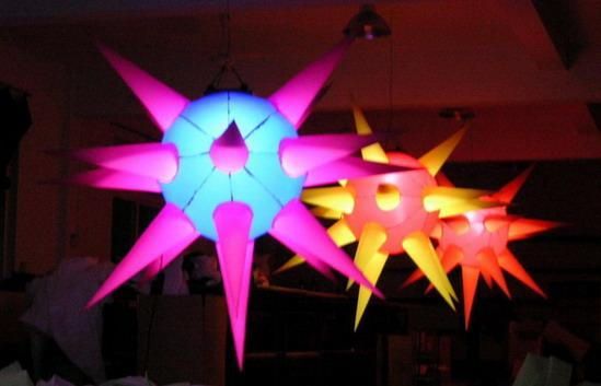 Taffeta Fabric Inflatable Lighting , Color Lights For Party