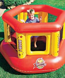 Red Mini Ring Arena Bouncer , Inflatable Amusement Park For Kids