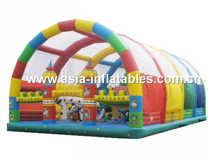 Outdoor Inflatable Playground With Inflatable Slide Inside For Chilren Amusement