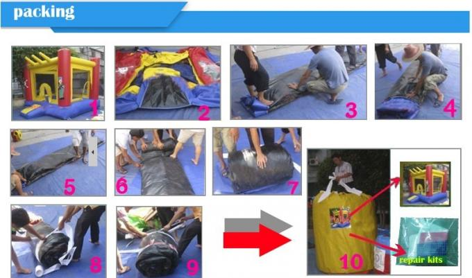 Child Play Pvc Tarpaulin Inflatable Soccer Field / Sports Games Football Land Oem