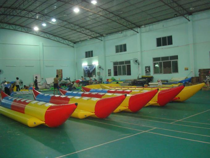 6.9ml Inflatable Banana Boat Water Games With 8 Seats , Inflatable Water Games