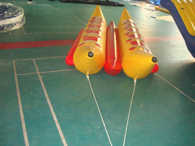 10 Seats Double Banana Boat Inflatable Water Games With 0.9mm Pvc Tarpaulin