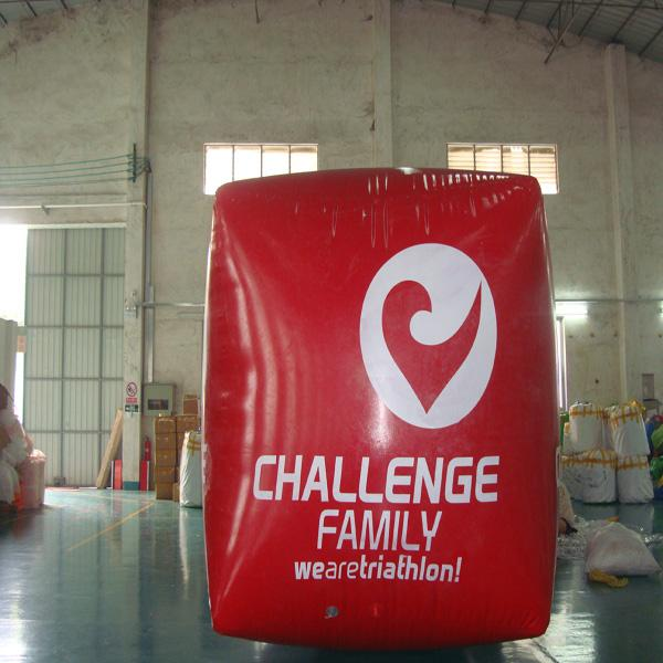 Red Cube Inflatable Swim Buoy For Advertising , Swim Buoy Inflatable Water Games
