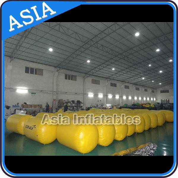 Inflatable triangle swim buoys toy for water park