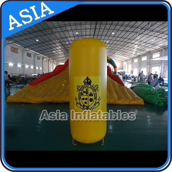 Inflatable Promote Buoy In Cylinder Shape For Ocean And Lake Advertising