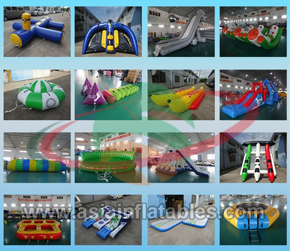4m bule and yellow water trampoline, inflatable water games trampoline