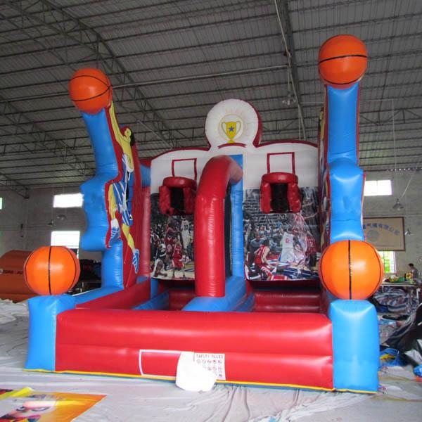 Outdoor Blue and Red PVC Tarpaulin Cannonball Shooting Inflatable Sports and Air Blaster Ball Games