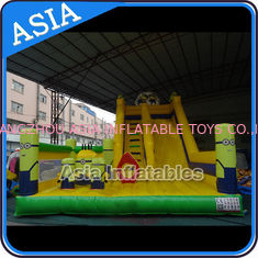 Cina Minions Commercial Inflatable Bouncer For Sale / Inflatable Minions Bouncer Slide pabrik