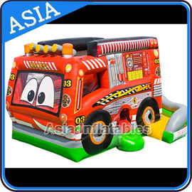Cina Outdoor Inflatable Cartoon Bus Jumping Castle For Children Party Games pabrik