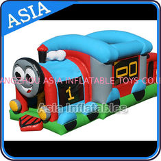 Cina Commercial Inflatable Bouncer Choo Choo Train Bouncy House For Kids pabrik