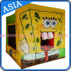 Cina Lovely Inflatable Sponge Bob Cartoon Bouncy Castle For Party Hire Games pabrik