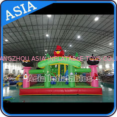 Cina Inflatable Angry Bird Bouncer Slide Palyground / Inflatable Angry Bird Jumping Bouner Castle Combo pabrik
