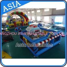 Cina 5ml Commercial Inflatable Bouncer Circus Bounce Playground Fun City pabrik