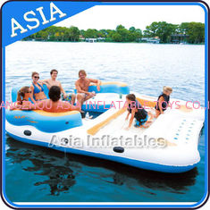 Cina 0.9mm Durable PVC Tarpaulin Inflatable Island Floating Lounge pabrik