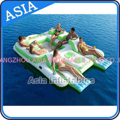 Cina Capacity 6 Persons Inflatable Island Floating Lounge Inflatable Water Lounge pabrik