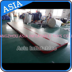 Cina Sealed 10mL Gym Inflatable Tumble Air Mattress In Red and Gray pabrik