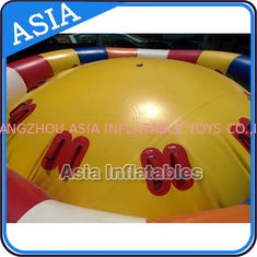 Cina Hot Welding Yellow 12 Person Inflatable Disco Boat For Towable Water Games pabrik