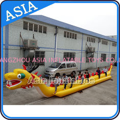 Cina Yellow Dragon Banana Shaped Inflatable Boats 12 Person Water Sport Games For Adult pabrik