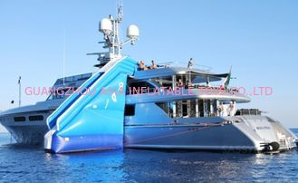 Cina Inflatable Water Floating Yacht Slide, Inflatable Water Sliding Sports pabrik