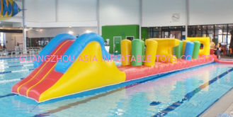 Cina Indoor Swimming Pool Games, Inflatable Obstacle Course For Sale pabrik