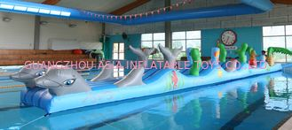 Cina Inflatable Sports For Swimming Pool, Aqua Obstacle Course For Sale pabrik