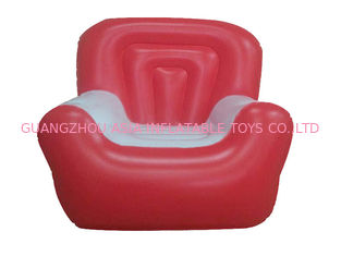 Cina Red And White 0.6mm Pvc Tarpaulin Inflatable Air Sofa With Single Seat pabrik