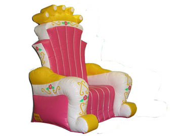 Cina Hot Melding Pink 0.9mm Pvc Tarpaulin Inflatable  King Chair Sofa For Advertising pabrik