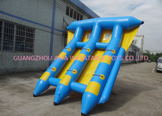 Cina 4-6 Passangers InflatableTowable Sport Games/ Fly Fishing Boat Fish Raft Boat pabrik