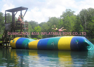 Cina Floating Inflatable Water Trampolines , Lake Inflatable Water Blob pabrik