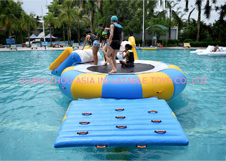 Cina China Inflatable Water Trampoline Water Sport Toys , Inflatable Water Games pabrik