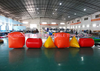 Cina Triangle ,  Cube Shape and Cylinder shape of Inflatable Buoy On Sale For Water Games pabrik