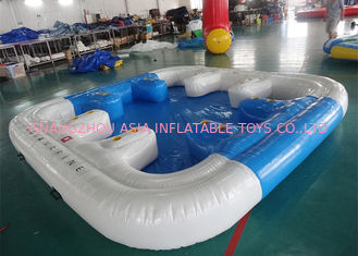 Cina 6 Person Floating Island , Inflatable Island Rafts For River and Ocean pabrik