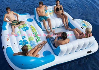 Cina Large Inflatable Floating Island , Inflatable Lounge Water Floating Games For Leisure pabrik