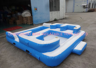 Cina Entermainment 6 Person Inflatable Floating Island , Inflatable Shock Rocker pabrik