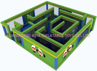 Cina Durable Green Maze Game For Chilren, Inflatable Chilren Park Games pabrik