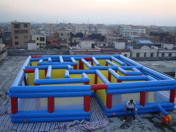 Cina Square Interactive Maze Games, Inflatable Labyrinth Games For Sale pabrik