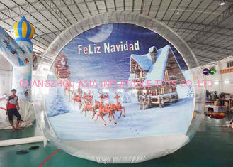 Cina OEM Inflatable Snow Globe with Tunnel for Promotion pabrik