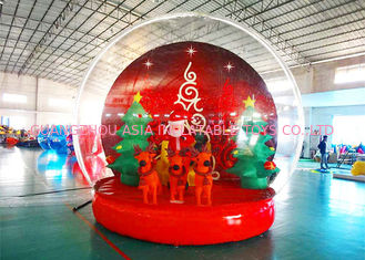 Cina Holiday Decoration Large Christmas Inflatable Snow Globe 3m To 8m Diameter pabrik