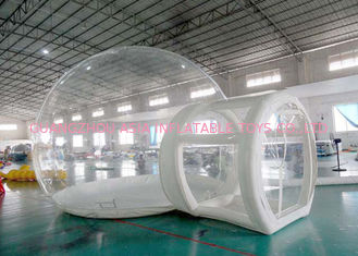 Cina Half Transparent Inflatable Dome Tent / Bubble Tent For Lawn Camping pabrik