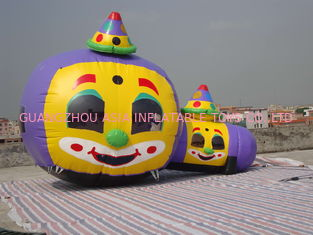 Cina Customized Inflatable Tunnel Maze / Pumpkin-Shaped Tunnel Games pabrik