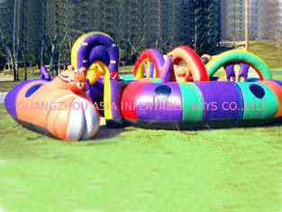 Cina Child Amusement Games, Inflatable Tunnel Maze With N Arch pabrik