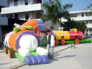 Cina Amusement Park Games, Inflatable Tunnel Maze / Inflatable Tunnel Train pabrik