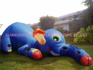 Cina Inflatable Animal Tunnel, Inflatable Elephant Trunk Tunnel Games pabrik