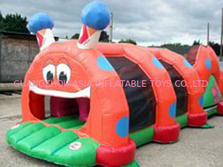 Cina Red Inflatable Tunnel Maze, Thumb Caterpillar Play Tunnel For Kids pabrik