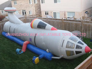 Cina White Pvc Tarpaul Inflatable Tunnel Maze, Ininflatable Rocket Tunnel pabrik