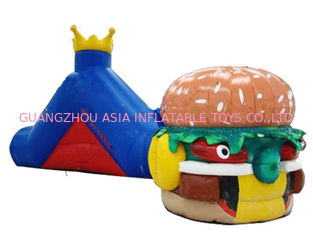 Cina Hot Sale Inflatable Tunnel Maze Games In Hamburger Shape For Kids pabrik