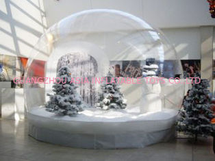 Clear Inflatable Christmas Human Size Snow Globe / Bubble Tent for Sale