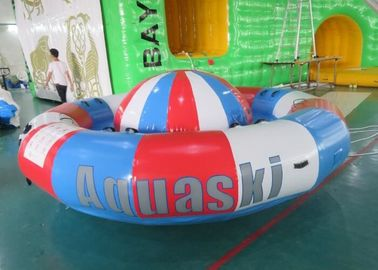 Cina Digital Printing Turntable Inflatables Spinning Boat, 8 Orang Towable Tube pabrik