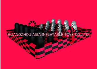 Cina Komersial Giant Inflatable Fun City Black And Red Zoo Jumping Bounce Untuk Anak-Anak pabrik