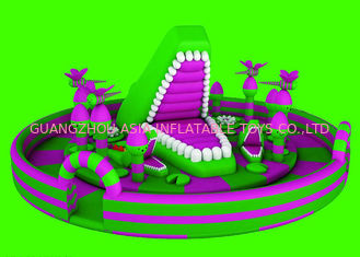 Cina Anti - UV Penuh - Digital Printing Inflatable Fun City For Kids Playing pabrik